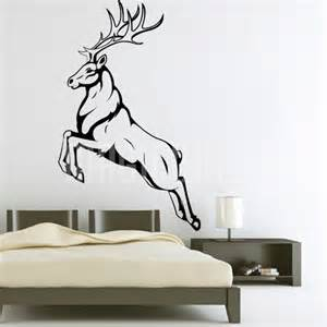 Animals Wall Stickers Wall Decals Caribou Deer Jumping Animal Magic Wall