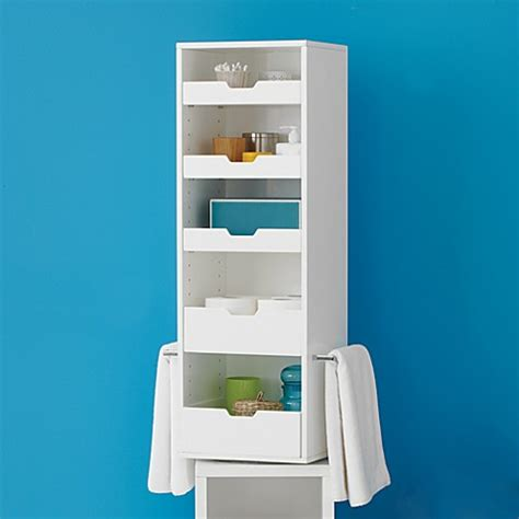 real simple bathroom real simple solutions rotating storage tower bed bath beyond