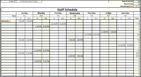 Monthly Staff Schedule Template Excel Excel Employee Schedule Template Allows Multiple Employees Staffing Template Excel Free