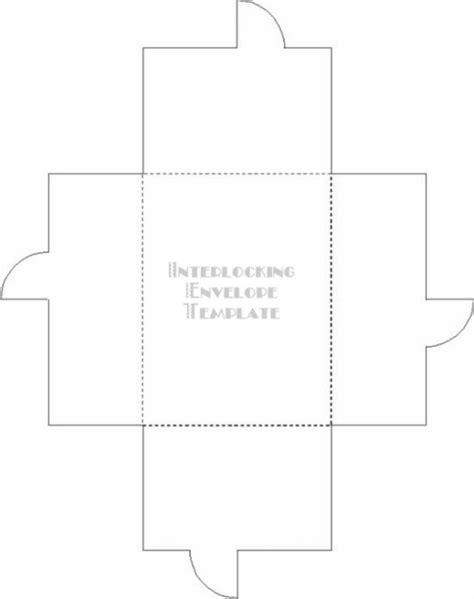 Interlocking Card Template by Interlocking Envelope Template Temptress