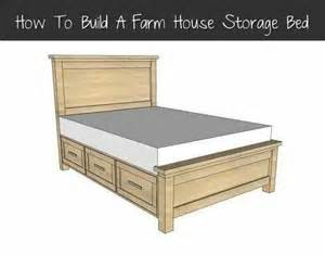 Farmhouse Bed Plans Farmhouse Storage Bed Plans Diy And Furniture Pinterest