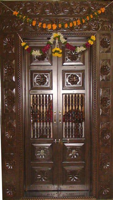 pooja room doors images  pinterest bedroom