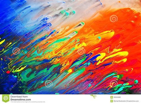 colors painting colorful abstract acrylic painting stock photo image of