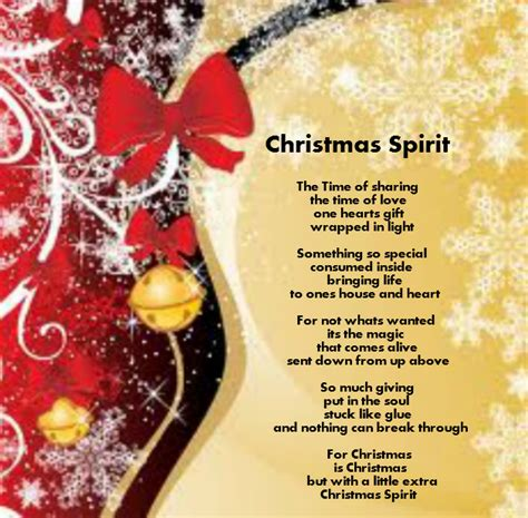spirit  christmas poem festival collections