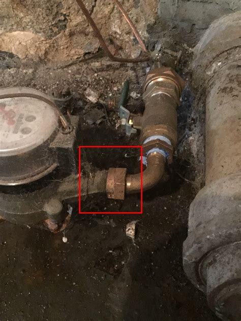 Seal Plumbing Leaks by How To Stop Water Meter Connection Leak Diyxchanger