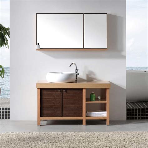 bathroom single sink vanity cabinet 48 quot single bathroom vanity with vessel sink biella vm