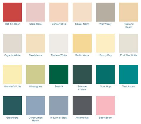 retro colors 1950s 1950s exterior paint colors