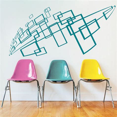 geometric wall stickers geometric wall decal interior stickers from trendy wall