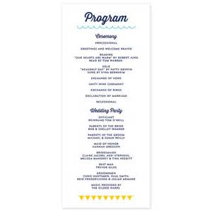 sle of wedding reception program modern program crafty pie press