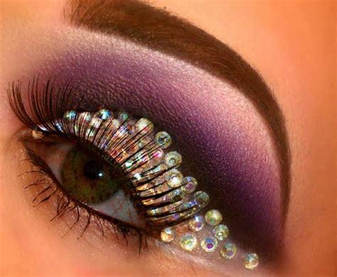 Eyeshadow Bling Bling rhinestone cut crease by mua d preen me