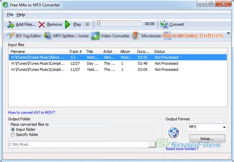 download converter mp3 to m4a free m4a to mp3 converter screenshot and download at