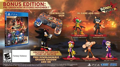 Ps4 Sonic Forces dlc sonic forces episode shadow play verse
