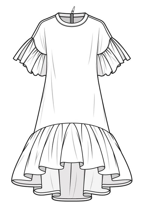 fashion illustration flat drawing technical шитьё sketches fashion flats and fashion design