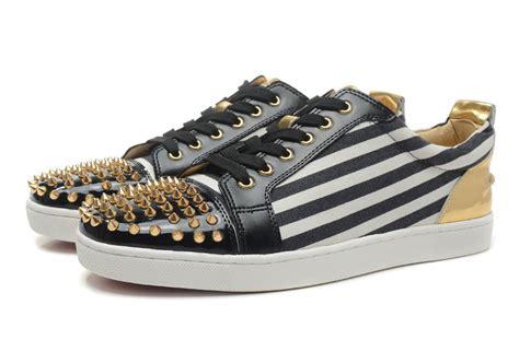 Flat Shoes Kanvas Ppyong Black And White christian louboutin black white striped canvas redsole