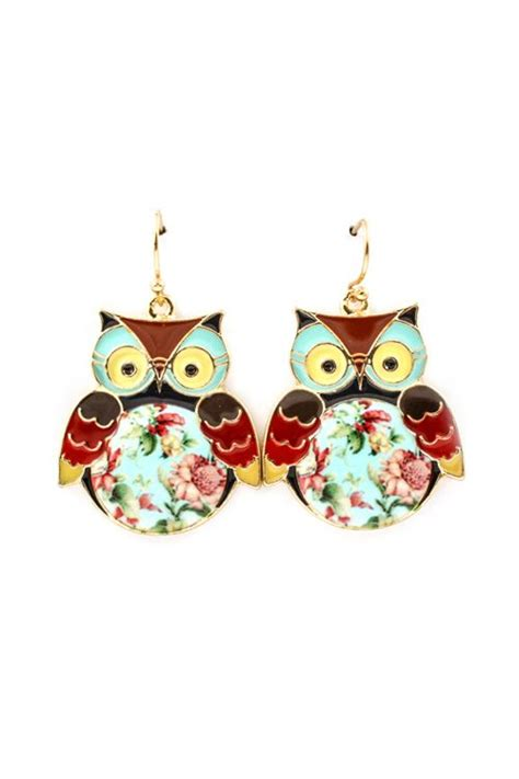 Imitation Origami Owl - shabby chic owl earrings stine these are the
