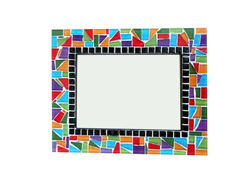 cool white frame added colorful pictures as custom colorful mosaic picture frame