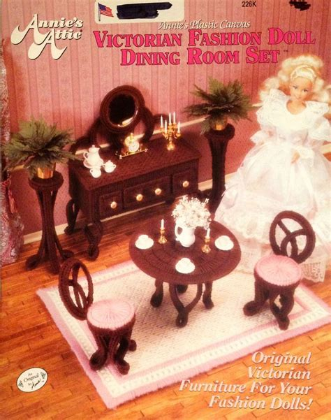 barbie dining room set annie s attic victorian fashion doll dining room set plastic canvas 226k crafts barbie and