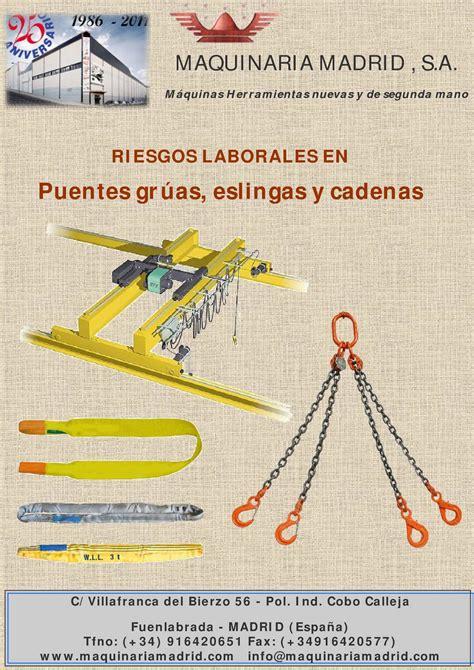 revision de cadenas y eslingas calam 233 o riesgos laborales puente grua eslingas polipastos