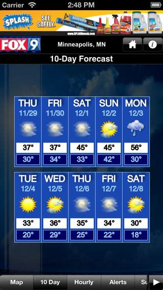 fox 9 news weather fox 9 weather on the app store on itunes