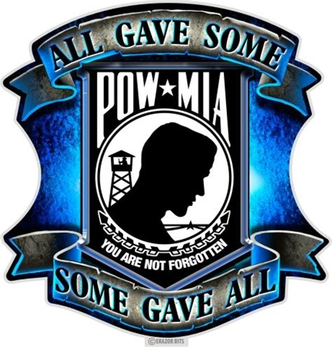 some gave all pow mia decal