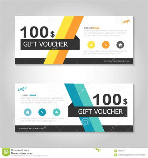 discount vouchers uk shopping colorful yellow orange gift voucher template layout design