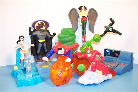 Mainan Figure Anak Fast Food Toys 2 2003 dc justice league adventures set of 8 burger king meal toys review