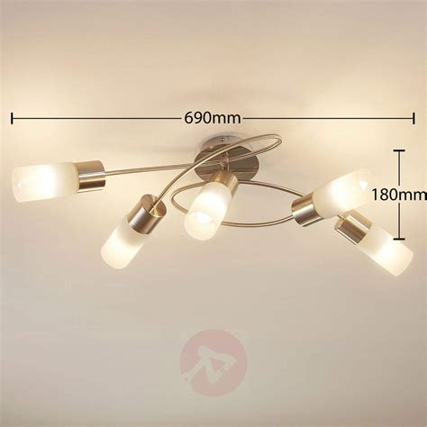 5 bulb ceiling light 5 bulb dimmable led ceiling light erva lights co uk