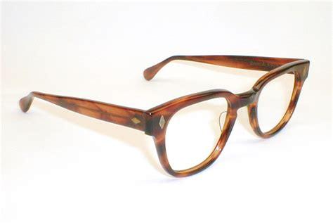 vintage mens eyeglasses frames black 50s 60s tart