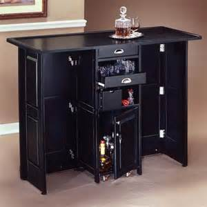 Portable Bar Furniture Swing Open Portable Home Bar Contemporary Indoor Pub
