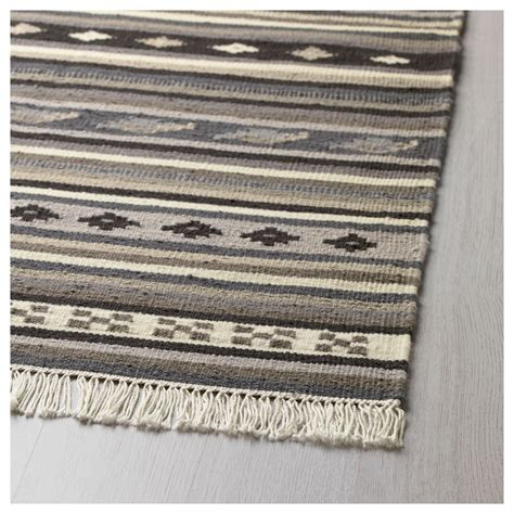ikea rugs kattrup rug flatwoven handmade grey 170x240 cm ikea