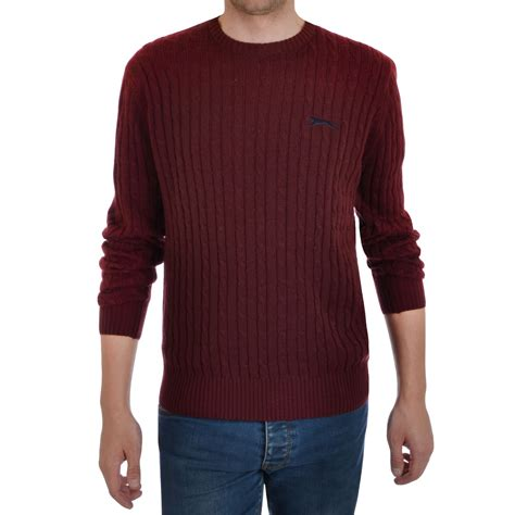 mens chunky cable knit sweater slazenger nicklaus mens crew neck chunky cable knit