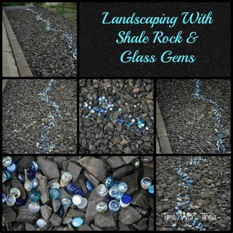 garden shale rock landscaping with shale rock and glass gems hometalk