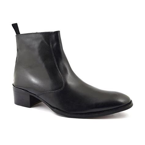 mens heeled boots buy mens black cuban heel boots gucinari beatle boots