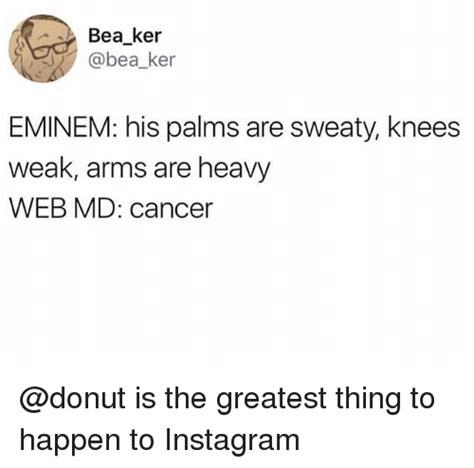 eminem knees weak bea ker eminem his palms are sweaty knees weak arms are