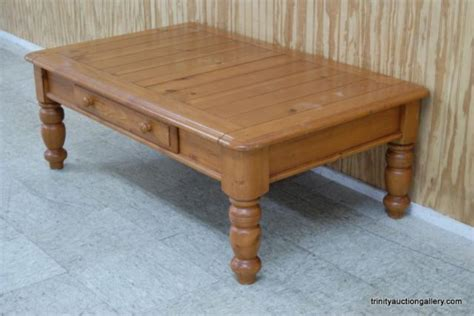knotty pine coffee table w drawer