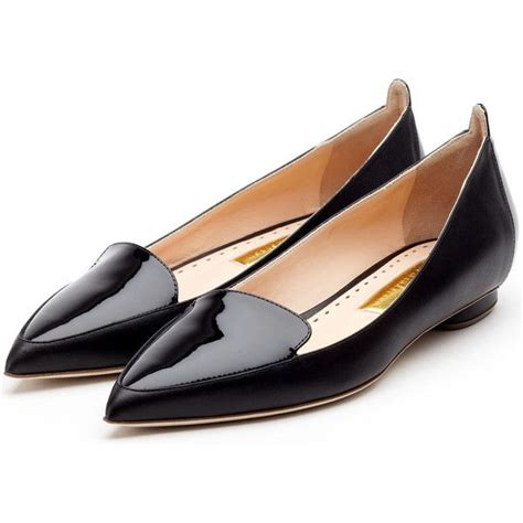 pointy flats shoes rupert sanderson flat pointy ballerina found on polyvore