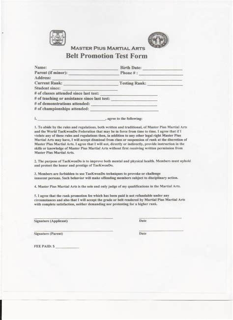 Download Forms Roswell Martial Arts Taekwondo And Kukkiwon Martial Arts Contract Template