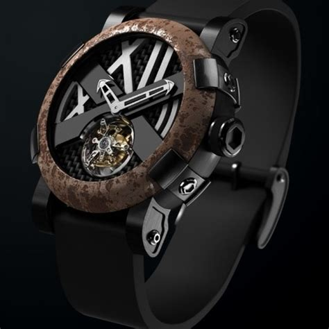 Romain Jerome   Les oxydés   Titanic DNA rusted steel T oxy III Tourbillon   WorldTempus