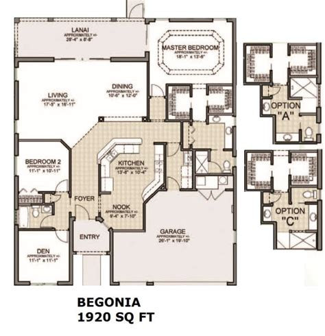 the villages homes designer homes begonia model