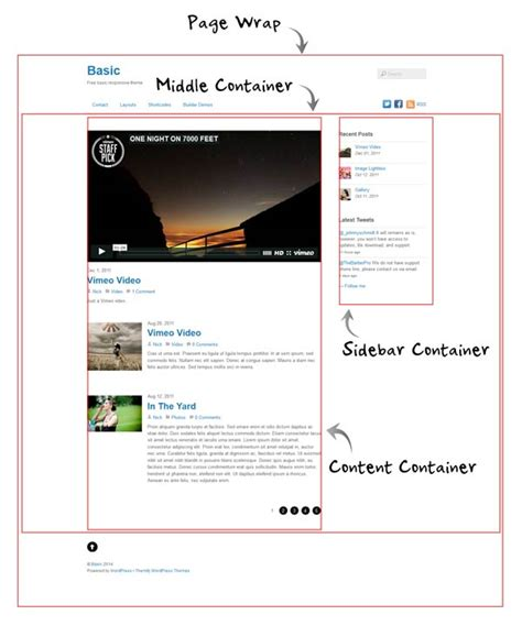 web layout container customizing your theme styles welcome to rj web builder 3 0