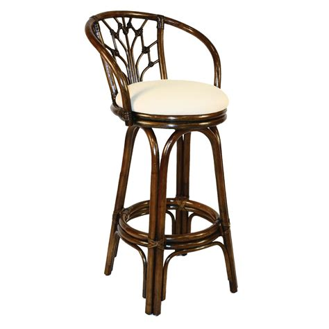white swivel counter stools with backs furniture bali swivel rattan wicker counter stools with