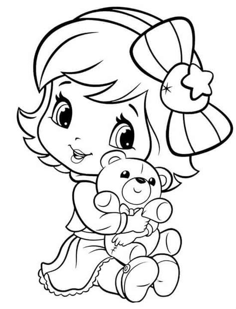 strawberry shortcake coloring book baby strawberry shortcake colouring pages for