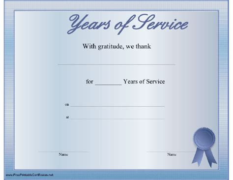 10 year service award certificate template 10 best images of 30 years of service certificate years