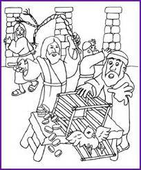 coloring pages jesus clears the temple jesus and money changers coloring page korner