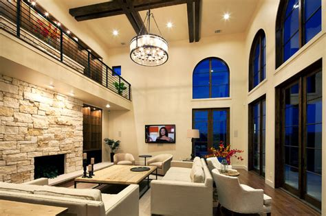 home design story rooms living area mediterranean living room by jenkins custom homes