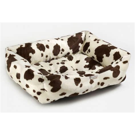 cow print sofa chilli dog cow print faux fur sofa dog bed