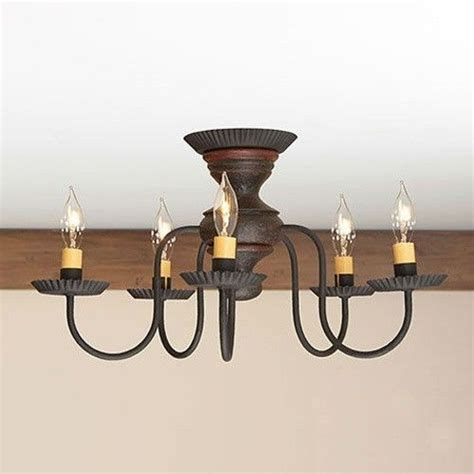 Flush Chandelier Ceiling Lights Thorndale 5 Arm Ceiling Light Primitive Flush Mount Chandelier In Espresso Ebay