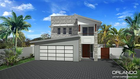 narrow home designs orlando storey narrow home design home design
