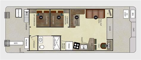 houseboat floor plans 40 foot houseboat floor plans joy studio design gallery