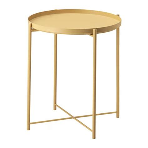 outdoor side tables ikea gladom tray table light yellow 45x53 cm ikea